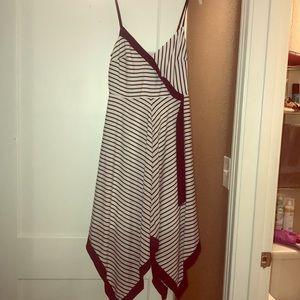 Midi navy/white banana republic dress, never worn